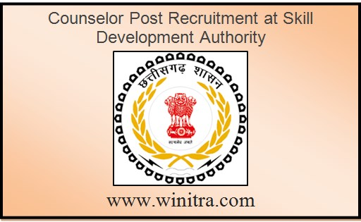 Counselor Post Recruitment at Skill Development Authority