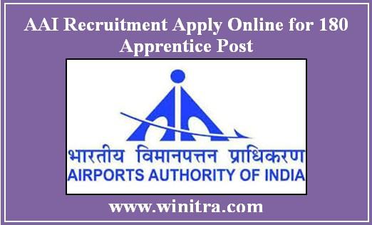 AAI Recruitment Apply Online for 180 Apprentice Post