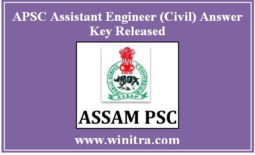 APSC Assistant Engineer (Civil) Answer Key Released