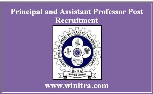 Principal and Assistant Professor Post Recruitment J. K. Institute of Pharmacy Bilaspur
