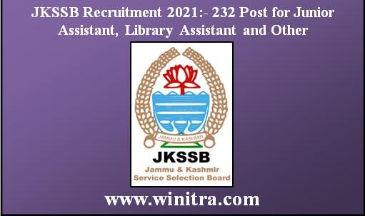 J&K Services Selection Board (JKSSB) Recruitment