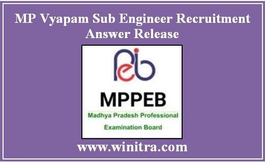 MP Vyapam Sub Engineer Recruitment Answer Release