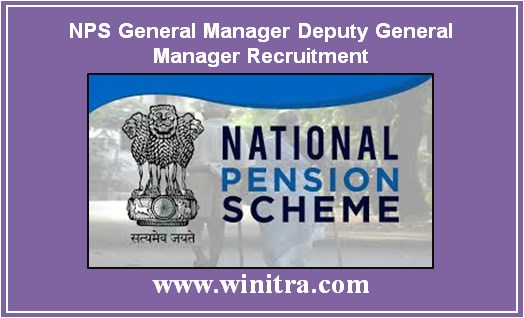 NPS General Manager Deputy General Manager Recruitment