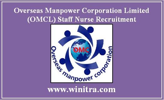 Overseas Manpower Corporation Limited (OMCL) Staff Nurse Recruitment