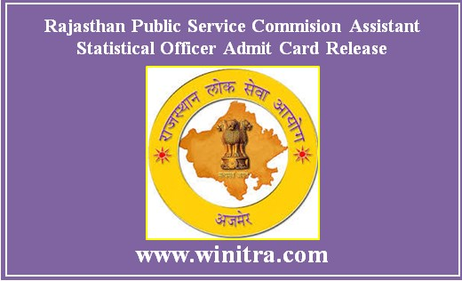 Rajasthan Public Service Commision Assistant Statistical Officer Admit Card Release