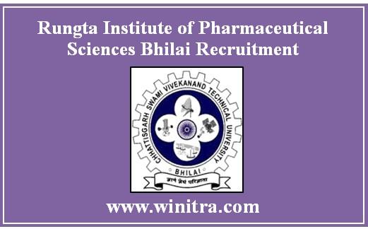 Rungta Institute of Pharmaceutical Sciences Bhilai Principal & Other Post Recruitment
