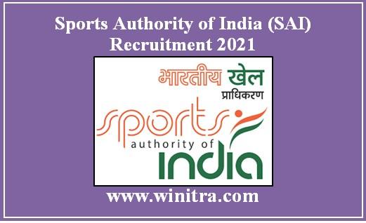 Sports Authority of India (SAI) Recruitment 2021