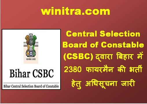Bihar Fireman Recruitment 2021