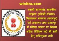 Surajpur Swami Atmanand School Recruitment