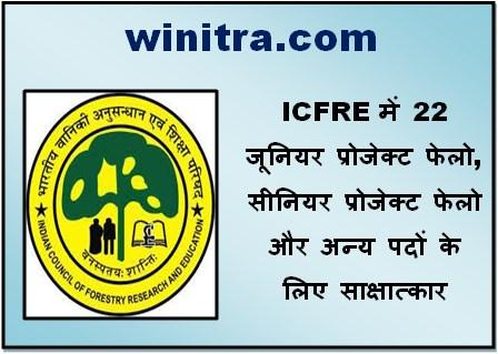 ICFRE Recruitment 2021