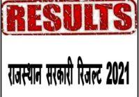 Rajasthan Sarkari Result 2021