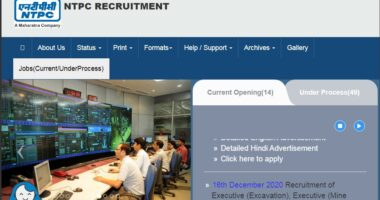 National Thermal Power Corporation Limited Recruitment 2021