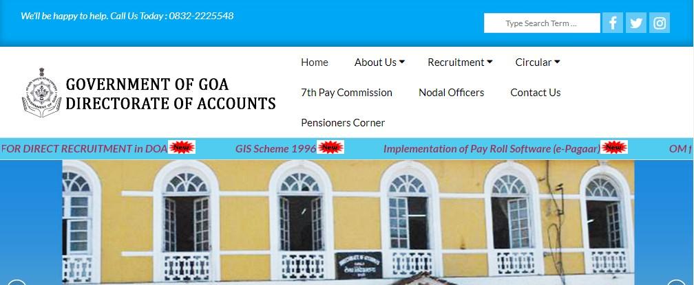 Goa Sarkari Naukri MTS Accounts and LDC Post Recruitment