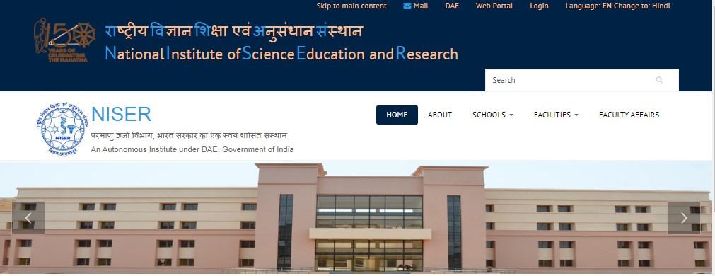 NISER Scientific Officer Recruitment 2021 Notification