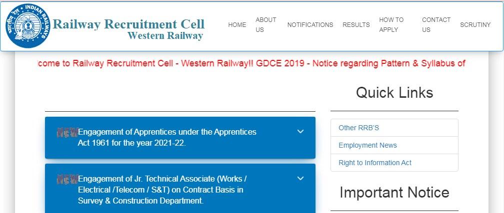 Western Railway Apprentice Jobs 2021