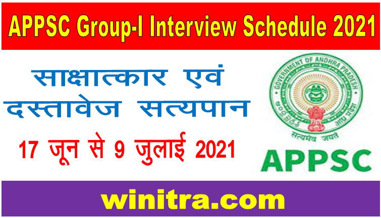 APPSC Group-I Services Interview 2021