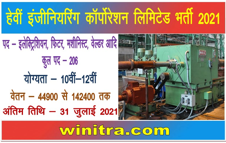 Heavy Engineering Corporation Limited HECL Recruitment 2021