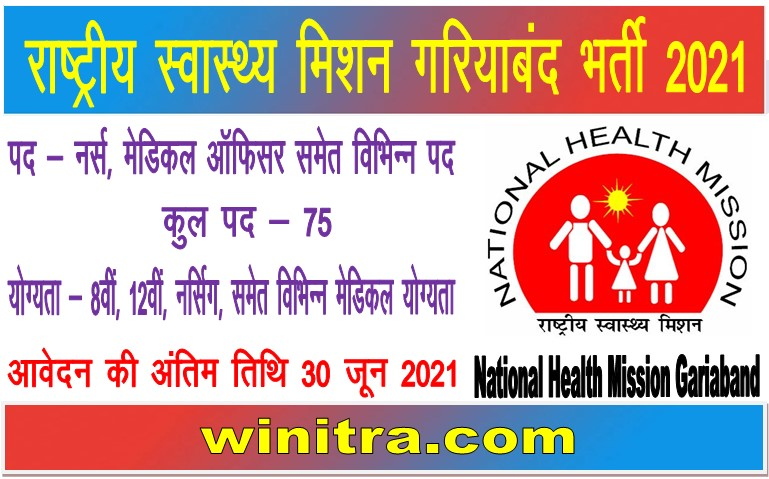 National Health Mission Gariaband Recruitment 2021