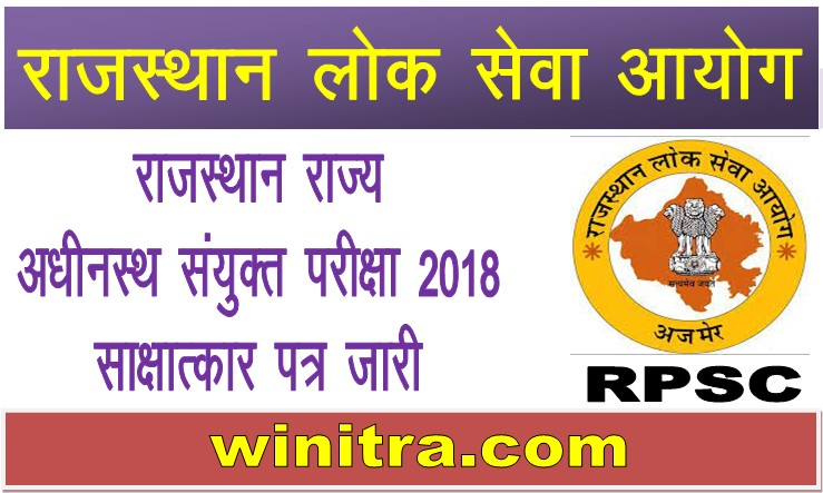 RPSC RAS Interview Letter 2021 Download Link