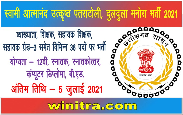 Swami Atmanand Excellence School Patratoli Duldula Bharti 2021