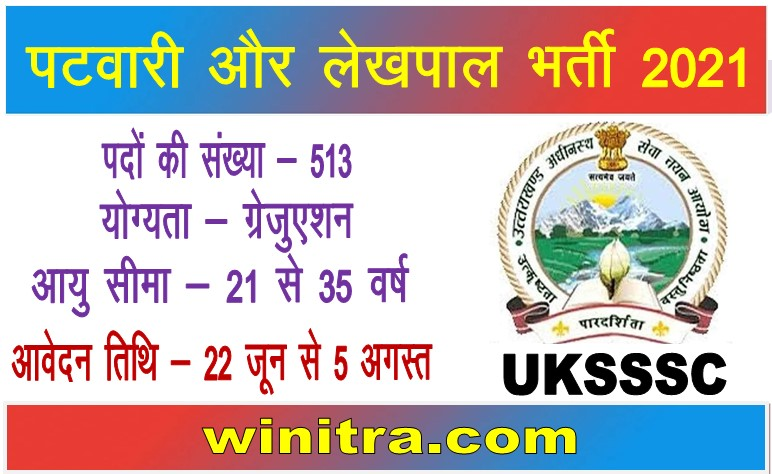 UKSSSC Recruitment 2021 Apply For Lekhpal And Patwari Posts
