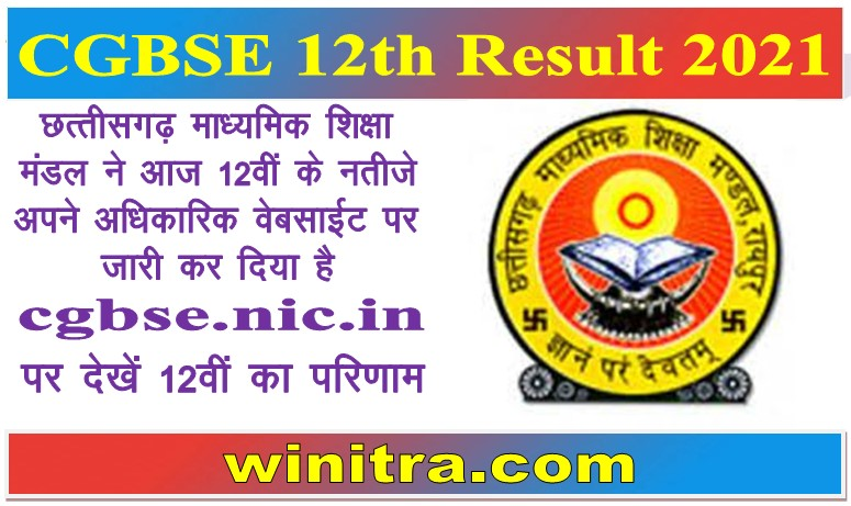 CGBSE 12th Result 2021