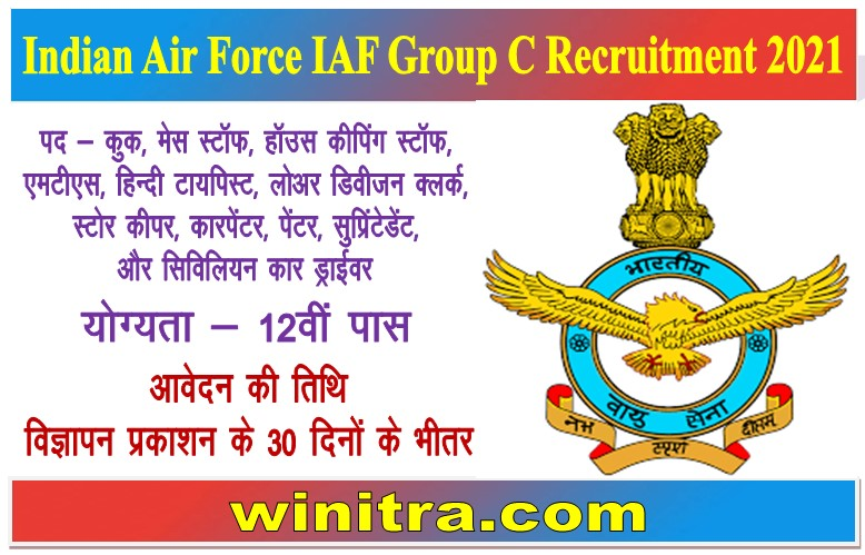 Indian Air Force IAF Group C Recruitment 2021