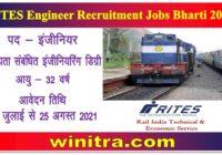 RITES Engineer Recruitment Jobs Bharti 2021