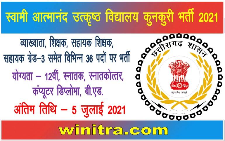 Swami Atmanand Excellence School Kunkuri Bharti 2021