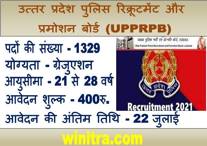 Uttar Pradesh Police Vacency 2021 के पदों पर भर्ती.