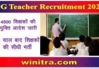 CG Teacher Recruitment 2021