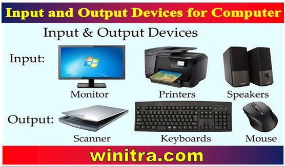 Input and Output Devices for Computer