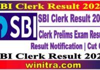 SBI Clerk Result 2021 Check Cut Off