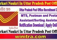 Sarkari Naukri In Uttar Pradesh Post Office