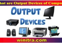 What are Output Devices of Computer