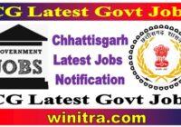 CG Latest Govt Jobs