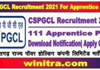 CSPGCL Recruitment 2021 For Apprentice Post