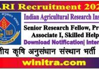 IARI Recruitment 2021 Apply Online