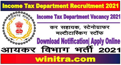 Income Tax Department Recruitment 2021 For 24 Post