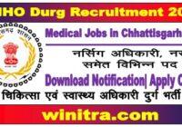 Medical Jobs in Chhattisgarh 2021