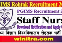 PGIMS Rohtak Recruitment 2021
